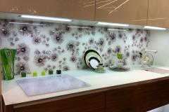 Стеновая панель Vitrodesign, декор Аватар, столешница матовое стекло